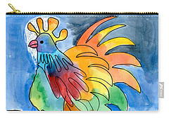 Rainbow Rooster Carry-all Pouch