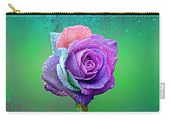 Carry-all Pouch featuring the photograph Rainbow Rose by Ericamaxine Price