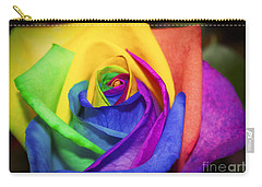 Rainbow Rose In Paint Carry-all Pouch