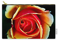 Carry-all Pouch featuring the photograph Rainbow Rose by John Haldane