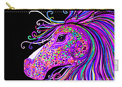 Rainbow Spotted Horse Head 2 Carry-all Pouch