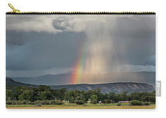 Rainbow Storm Over Log Hill Carry-all Pouch