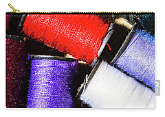 Carry-all Pouch featuring the photograph Rainbow Threads Sewing Equipment by Jorgo Photography - Wall Art Gallery