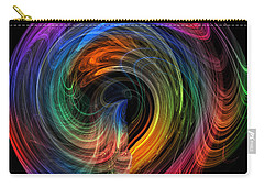 Carry-all Pouch featuring the photograph Rainbow Through Curved Air by Mark Blauhoefer