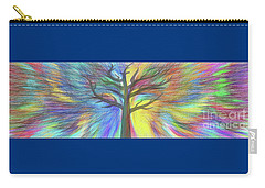 Carry-all Pouch featuring the digital art Rainbow Tree By Kaye Menner by Kaye Menner