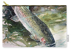 Rainbow Trout Carry-all Pouch by Sandra Strohschein