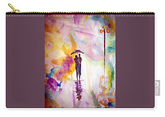 Carry-all Pouch featuring the painting Rainbow Walk Of Love by Raymond Doward