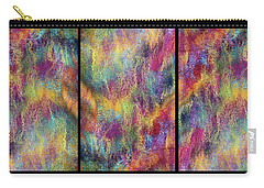 Rainbow Waterfall Triptych Carry-all Pouch