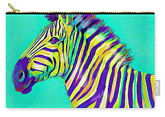 Rainbow Zebra 2013 Carry-all Pouch by Jane Schnetlage