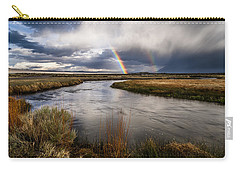 Rainbows At The Upper Owens Carry-all Pouch by Cat Connor