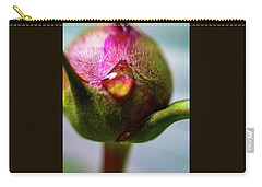 Raindrop On Peonie Carry-all Pouch by Bruce Carpenter