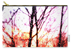 Raindrop Sunset Photograph Carry-all Pouch