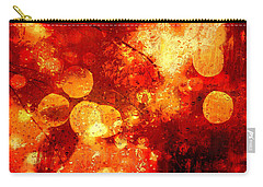 Carry-all Pouch featuring the digital art Raindrops And Bokeh Abstract by Fine Art By Andrew David