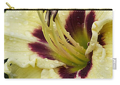 Raindrops On A Petal Carry-all Pouch by Tiffany Erdman