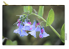 Raindrops On Blue Bells Carry-all Pouch