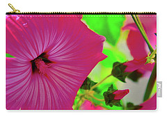 Raindrops On Flowers Carry-all Pouch by Joe Burns