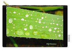 Raindrops On Leaf Carry-all Pouch