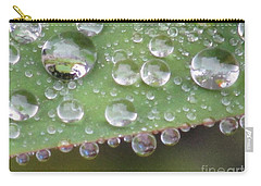 Raindrops On Leaf. Carry-all Pouch