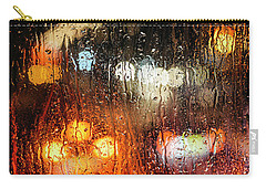 Raindrops On Street Window Carry-all Pouch