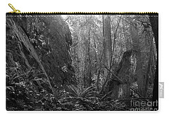 Carry-all Pouch featuring the photograph Rainforest Black And White by Sharon Talson