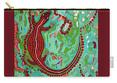 Rainforest Skink Carry-all Pouch by Cliff Madsen