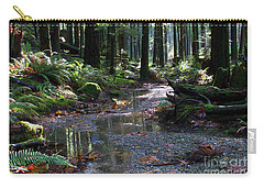 Carry-all Pouch featuring the photograph Rainforest Trail 2 by Sharon Talson