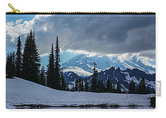 Rainier Reflection Dramatic Skies Carry-all Pouch by Mike Reid