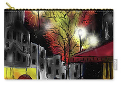 Carry-all Pouch featuring the digital art Raining And Color by Darren Cannell