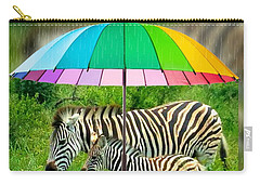 Raining Zebras Carry-all Pouch
