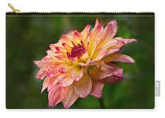 Rainy Dahlia Carry-all Pouch by Mary Jo Allen