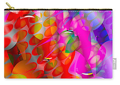 Carry-all Pouch featuring the digital art Rainy Day Girl by Robert Orinski