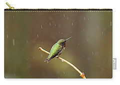 Rainy Day Hummingbird Carry-all Pouch