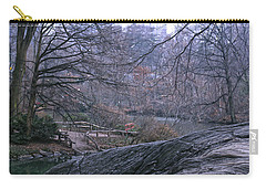 Rainy Day In Central Park Carry-all Pouch by Sandy Moulder