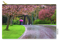 Rainy Day In The Park Carry-all Pouch by Keith Boone