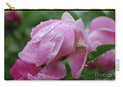 Rainy Day Peonies Carry-all Pouch by Rachel Cohen