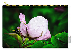 Rainy Day Rose Number 2 Carry-all Pouch