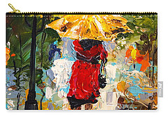 Carry-all Pouch featuring the painting Rainy Days by Alan Lakin