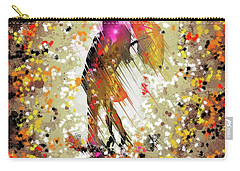 Carry-all Pouch featuring the digital art Rainy Love by Darren Cannell