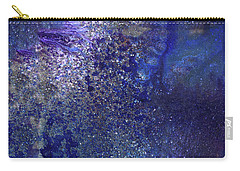 Rainy Night - Blue Contemporary Abstract Art Carry-all Pouch