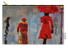 Carry-all Pouch featuring the painting Rainy Spring Day by Sher Nasser