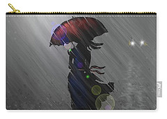 Carry-all Pouch featuring the digital art Rainy Walk by Darren Cannell