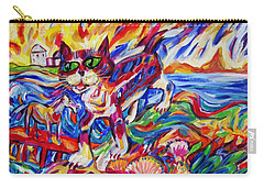 Raised Sea Bed Cat And Horse Carry-all Pouch by Dianne  Connolly