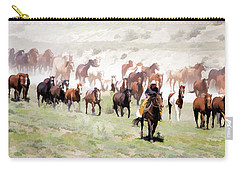 Raising Dust On The Great American Horse Drive In Maybell Colorado Carry-all Pouch