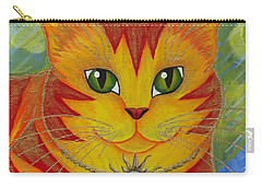 Rajah Golden Sun Cat Carry-all Pouch