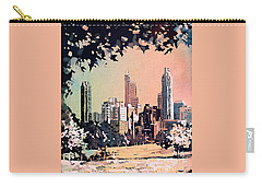 Carry-all Pouch featuring the painting Raleigh Skyline V by Ryan Fox
