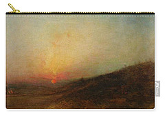 Carry-all Pouch featuring the painting Ralph Albert Blakelock  1847  1919  Indian Encampment At Sunset by Artistic Panda