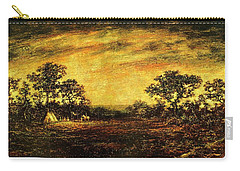 Carry-all Pouch featuring the painting Ralph Blakelock, Indian Encampment by Artistic Panda