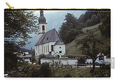 Carry-all Pouch featuring the photograph Ramsau Church by Donald Paczynski