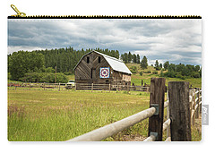 Ranch Fence And Barn With Hex Sign Carry-all Pouch
