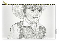 Carry-all Pouch featuring the drawing Ranch Hand by Mayhem Mediums